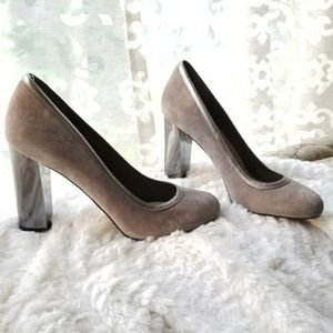 Cole Haan Ironstone Gray Mirrored Pump NEW IN BOX